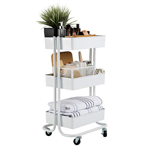 Seville Classics 3-Tier UltraDurable Commerical-Grade Heavy-Duty NSF-Certified Service Utility Storage Cart, 16.7