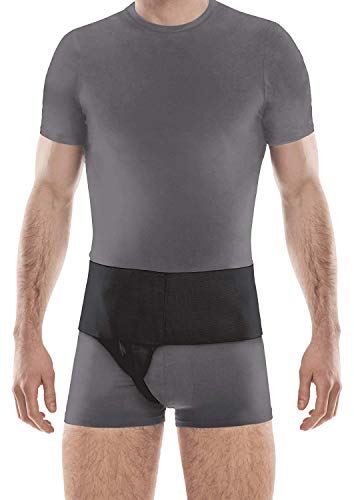 Right Side Inguinal Groin Hernia Belt - Right Black Large