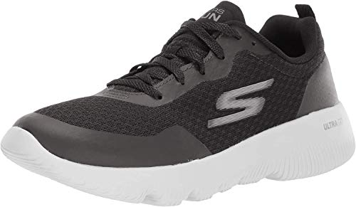 Skechers Performance Go Run Focus-Instantly, Zapatillas Mujer, Negro (BKPR Black Textile/Trim), 40 EU