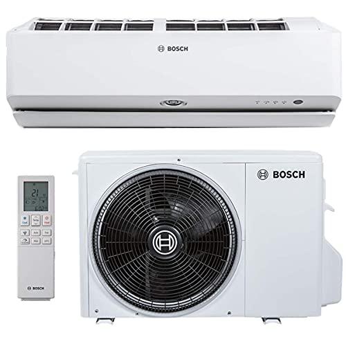 BOSCH Climate 9000i Split Klimaanlage 3,5 kW 12000 BTU, für bis zu 50 qm, Invert Klimagerät Split, A++ Kühlen, A+ Heizen, inkl. MontageSet, Kältemittel R32, Fernbedienung
