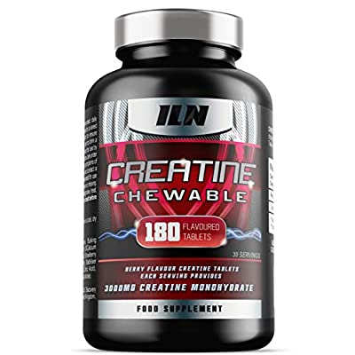 CR18 Chewable - 3000mg Creatine Monohydrate - Berry Flavoured Creatine Tablets - 30 Servings (180 Tablets) by Iron Labs Nutrition