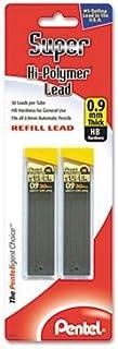 Super Hi-Polymer Lead Refills, 0.9mm, HB, Black, 2 Tubes of 30, 60/Pack, Sold as Pack of 6