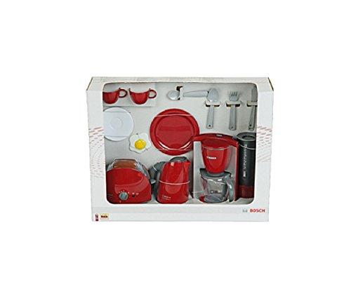 Kinder Kaffeemaschine / Frühstückset, mit Wasserkocher, Toaster und Kaffeemaschine, Spielzeug mit realistischen Funktionen, Originalgetreue Nachbildung / ideal für die Spielküche