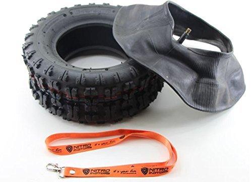 Nitro Motors Reifen mit Schlauch für Quads/Rasentraktor 13x5.00-6 Tyre Pocket Dirt Bike Quad + Gratis Schlüsselanhänger Lanyard