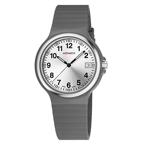 M WATCH Swiss Made Maxi Orologio da uomo/donna, Quadrante argento con...