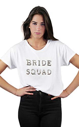C'EST MOI White T-Shirt Woman Bride Squad S