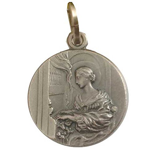 925 Sterling Silber Medaillen des Heilige Cäcilia - Patronin der Musik