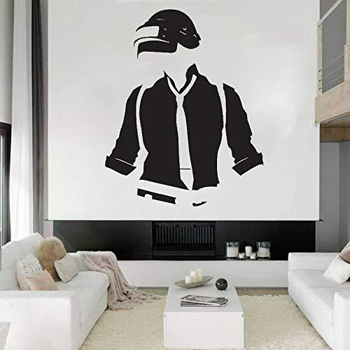 HGFDHG Decoración de pared vinilo decoración de la pared decoración del hogar etiqueta engomada cartel decoración habitación juego niño habitación etiqueta engomada hombres