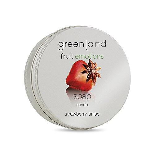 Greenland Handzeep aardbei Anis | verwenne, veganistische zeep | geurende zeep in een hoogwaardige bewaardoos met deksel