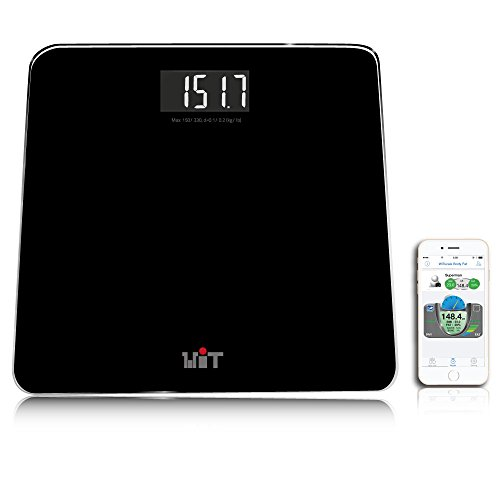 WiTscale S200 Bluetooth Smart Digital Bathroom Scale with Large Backlit Display and Step-On Technology for Galaxy S6, Note5, iPhone6s(Support Apple HealthKit) and iPad Air 2