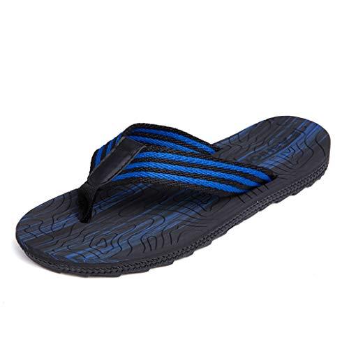 WSS Herren Flip Flops, hochwertige Gummisohlen tragen zur Haltbarkeit der Flip Flops bei (Größe : 40)