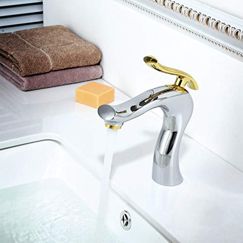 ROTOOY Wasserhhne All-Kupfer-Farbe Waschbecken Wasserhahn Heies Und Kaltes Bad über Zhler Waschbecken Waschbecken Waschtischmischer A