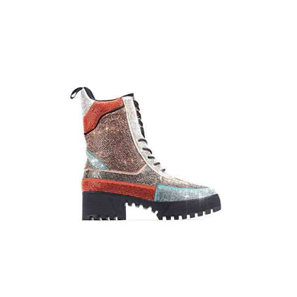 Cape Robbin Kingston Combat Boots for Women, Platform Boots with Chunky Block Heels, Womens High Tops Boots