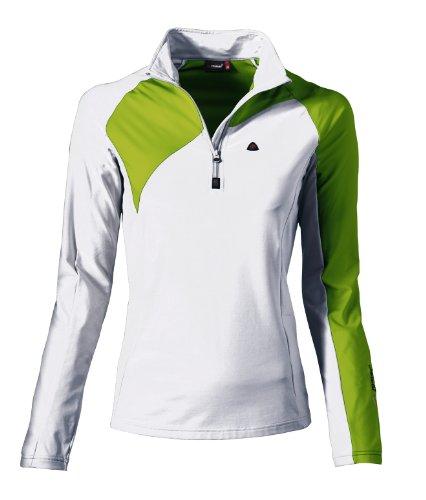 Maier Sports liv t-Shirt à Manches Longues et col roulé de Ski pour Femme 40 Multicolore - White/Macaw Green