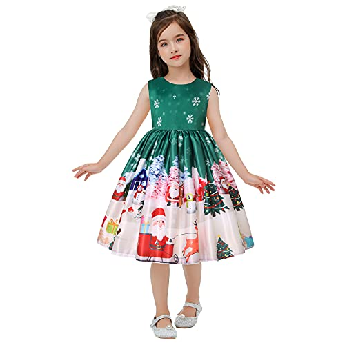 FORESTIME Girls Party Dress Child Pageant Gown Christmas Xmas Dance Party Costume Princess Dress,for Special Occasion(Green,2-3 Years)