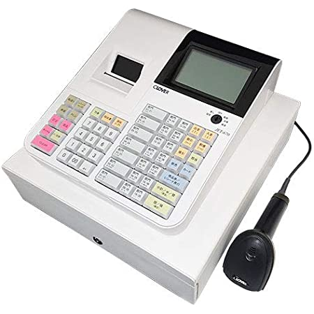 【軽減税率対応】 JET670 クローバー電子 レジスター (40部門 10担当 5000PLU 感熱紙)