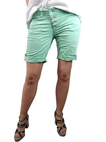 Buena Vista   Damen Sommer Shorts  farbige Bermuda   Malibu   Stretch Twill   Kurze Hose zum krempeln Lichen M