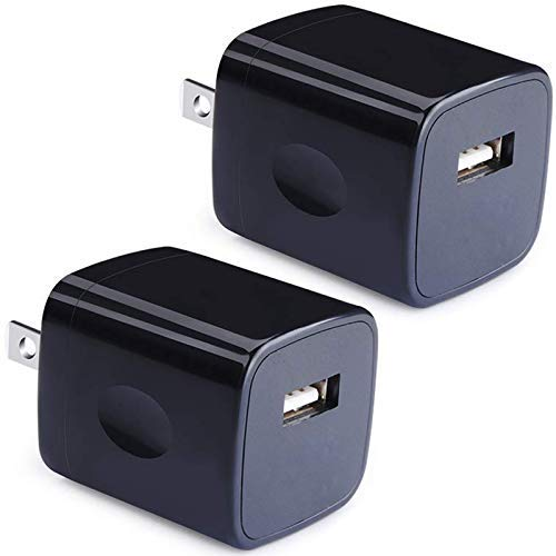 USB Wall Charger, Power Adapter, VectorTech (2-Pack) 5V/1Amp Single Port Quick Charger Plug Cube for iPhone X 7/6S/6S Plus/6 Plus/6/5S/5, Samsung Galaxy S7/S6/S5 Edge, LG, HTC, Huawei, Moto, Kindle