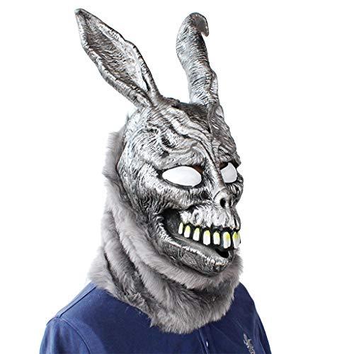 TIREOW_Happy Easter Fur Masku TIREOW Schreckliche Lustige Donnie Darko Frank Kaninchen Maske Halloween The Bunny Latex Kapuze für Kinder Kinder Jungen