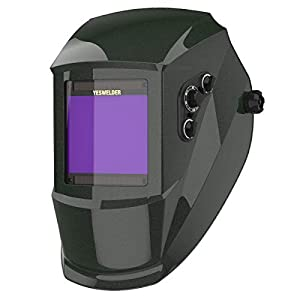 YESWELDER True Color Large Viewing Screen Solar Power Auto Darkening Welding Helmet, 4 Arc Sensor Wide Shade 4-5/9-13 Welder Mask Welding Hood for TIG MIG ARC Weld Grinding EH-091X by Wenzhou Essen Security Technology Co., LTD