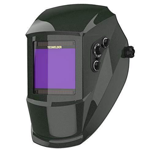 YESWELDER True Color Large Viewing Screen Solar Power Auto Darkening Welding Helmet, 4 Arc Sensor...
