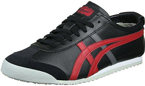 Onitsuka Tiger Mexico 66 Scarpe da ginnastica, Basse, Unisex, Nero (Black/True Red), 39