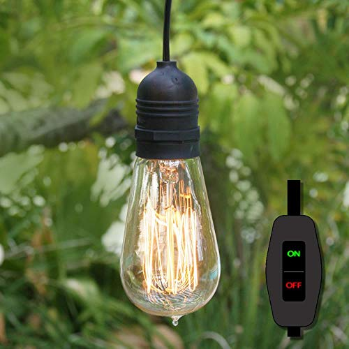 Fantado 15FT Black Commercial Grade Outdoor Pendant Light...