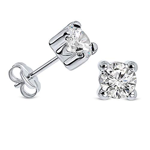 Diamantes Miore - Pendientes de oro blanco de 9 quilates