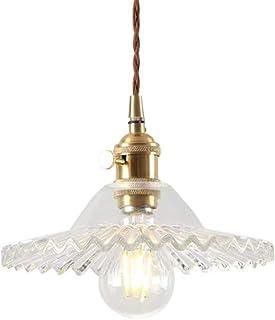 E27 Industrielle Vintage Verre Suspensions Luminaire Retro Plafonnier Luminaire Industrielle Eclairage de Plafond Verre Re...