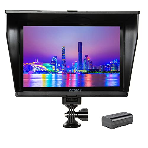 VILTROX DC-90HD 8.9inch Camera Video Monitor Full HD 1920x1200 IPS LCD Field Monitor Display 4K HDMI AV Input for Canon Nikon Sony DSLR Video Camera, Battery with Charging Cable(Included)