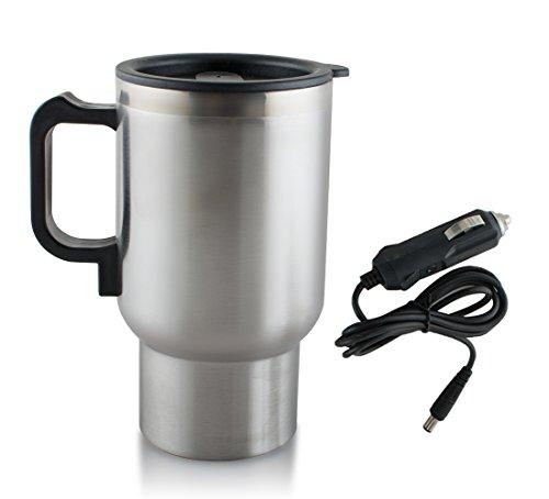 Mug à café électrique 12 V - En acier inoxydable - 450 ml