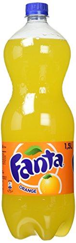 Fanta Orange / Super frische Limonade mit Orangengeschmack und Spaß-Garantie in coolen Flaschen / 4 x 1,5 Liter Einweg Flasche
