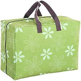 Crillutar sac de rangement de poignées pour vêtements de finition vêtements, pour accueillir grand couette