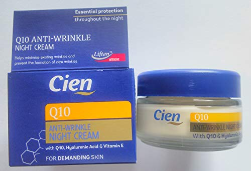 Anti-Wrinkle Night Cream With Q10, UV Protection, Hyaluronic Acid 50 ml by Cien