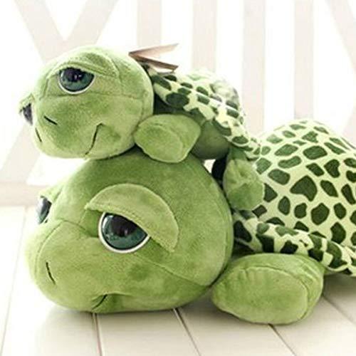 wwwl Juguete de peluche de 20 cm verde ojos grandes tortuga peluche tortuga muñeca tortuga niños como cumpleaños
