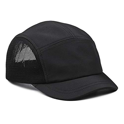 Croogo Mesh Trucker Dad Hat 5 Panel Baseball Cap Quick Dry Short Brim Hat Breathable Running Sun Caps