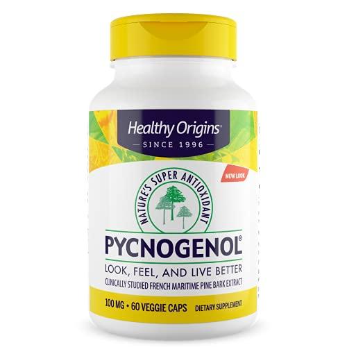 Healthy Origins Pycnogenol (Nature's Super Antioxidant) 100 mg, 60 Count