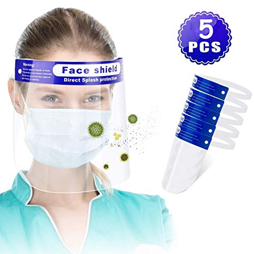 M-Home Wiederverwendbare Gesichtsschutz, Plastikgesichtsschutz Einstellbare Transparent Full Face Anti-Spucken Schutz Schablonen-Hut-Schutz Der Augen Und Gesichtsschutz
