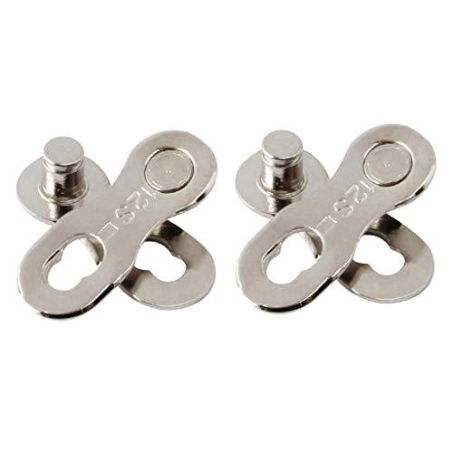 CUTICATE 2 Paar Stahl Fahrrad Kettenverbinder 12 Gang Kettenglied Silber