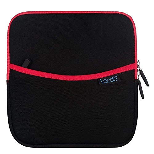 Lacdo Shockproof External USB CD DVD Writer Blu-Ray & External Hard Drive Neoprene Protective Storage Carrying Sleeve Case Pouch Bag With Extra Storage Pocket for Apple MD564ZM/A USB 2.0 SuperDrive /