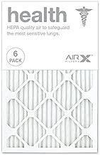 AIRx HEALTH 16x25x1 MERV 13 Pleated Air Filter - Made in the USA - Box of 6