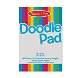 Melissa & Doug Doodle Pad (6 x 9 inches) With 50 Sheets of White Bond Paper