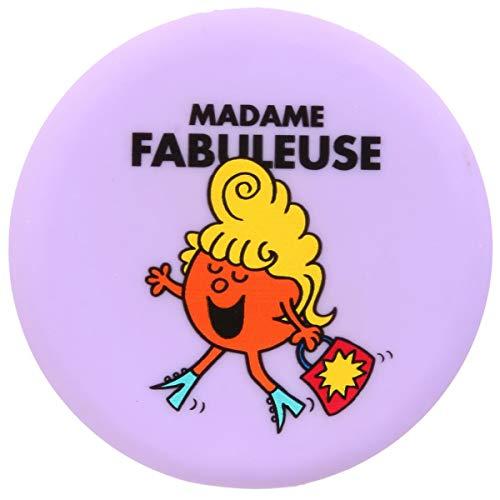 Les Trésors De Lily [Q9333] - Miroir de poche 'Monsieur Madame' violet (Madame Fabuleuse) - 7.8 cm