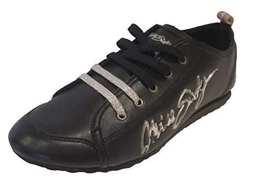 Miss Sixty Kelis - Zapatillas con Cordones para niña, Color Negro Negro W32