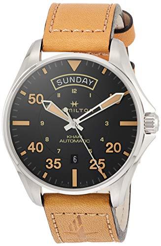 Orologio da polso uomo HAMILTON in acciaio e pelle H64645531