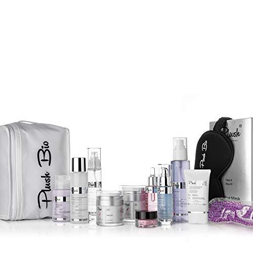 Plush luxuryBIOcosmetics - Terapia de ultrahidratación - Set 12 productos - para cualquier mujer interesada en un proceso completo de rejuvenecimiento de la piel - tipos de piel: todos