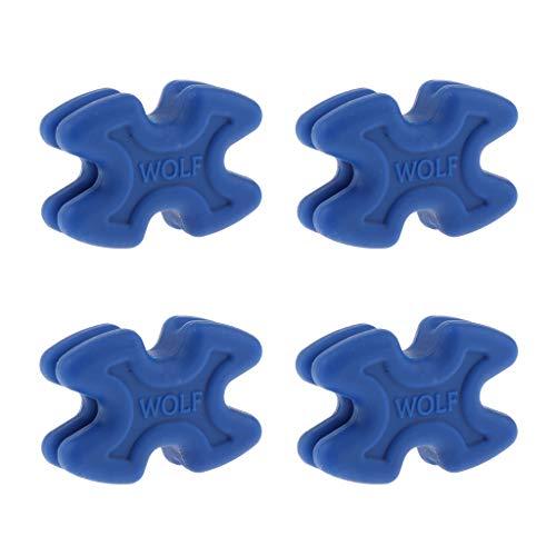 perfeclan 4Pcs Compound Bow Gliedmaßen Dämpfer Stabilisator Schalldämpfer Für Geteilte Gliedmaßen - Blau