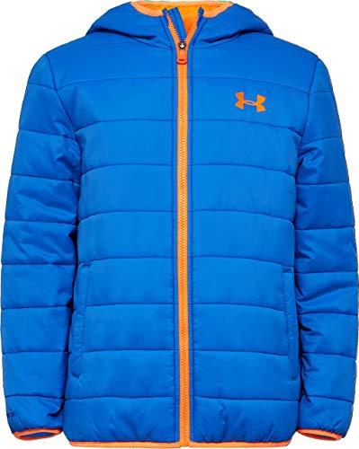 Under Armour Boys' Big Pronto Puffer Jacket, Powderkeg Blue, YLG