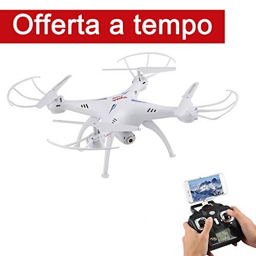 SMYA X5SW-1 Drone con Telecamera WIFI 0.3 MP 2.4GHz 4CH 6 Axis Gyro RC Quadricottero FPV - RTF(Bianco)