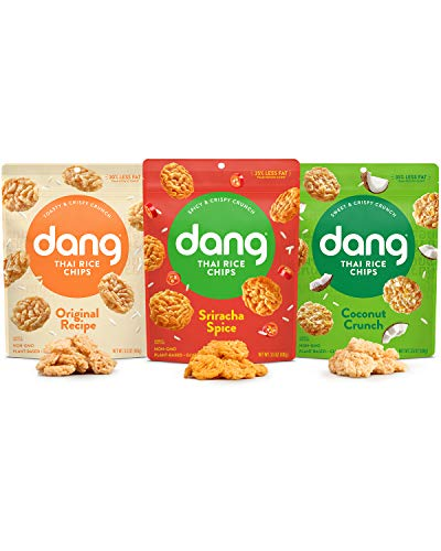 Dang Thai Rice Chips | Variety | 4 Pack | Vegan, Gluten Free, Non Gmo Rice Crisps, Healthy Snacks Made with Whole Foods | 3.5 Oz Resealable Bags